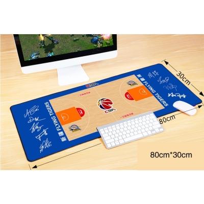 CBA Liaoning Xinjiang Beijing Men's Basketball Stadium floor signature large mouse pad