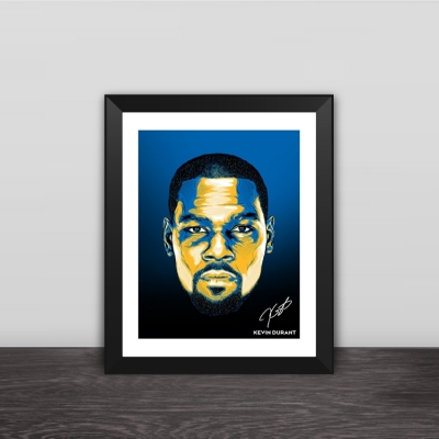 Kevin Durant avatar illustration solid wood decorative photo frame photo wall table hanging frame