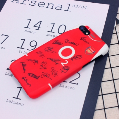 Arsenal team signature iphone7 8plus cases