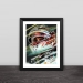 F1 Hamilton illustration wood photo frame