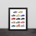 Classic football shoes art illustration section solid wood decorative photo frame photo wall table hanging frame