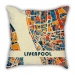 Map of Liverpool City pillow sofa cotton and linen texture car pillow cushion gift