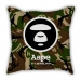 Green camouflage pillow sofa cotton and linen car cushion gift bar decoration tide brand gift