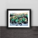 2018 Beijing Guoan Football Association Cup Champion Family Portrait Solid Wood Home Decoration Fan Photo Frame