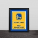 Golden State Warrior Championship banner solid wood decorative photo frame photo wall table pendulum art hanging frame Curry Durant