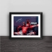 F1 Michael Schumacher oil painting art solid wood decorative photo frame photo wall