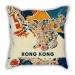 Map section Hong Kong city pillow sofa cotton and linen texture car pillow cushion gift