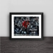 Bull Michael Jordan flu battle solid wood decorative photo frame photo wall