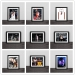 Heat Wade Domineering Celebration Classic Writing Real Wood Decorative Photo Frame Photo Wall
