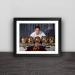 Barcelona Messi Golden Ball Slam Solid Wood Decorative Photo Frame Photo Wall