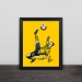 Ibrahimovic classic barb illustration solid wood decorative photo frame photo wall table hanging frame