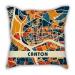 Map section Guangzhou city pillow sofa cotton and linen texture car pillow cushion gift