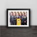 James joins the Lakers art illustration solid wood decorative photo frame photo wall