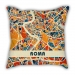 Map models Italy Rome city models pillow sofa cotton and linen texture car pillow cushion gift