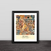 China Beijing city art map solid wood decorative photo frame photo wall table hanging frame