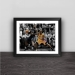 James VS Kobe classic matchup solid wood decorative photo frame photo wall table hanging frame