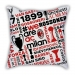 AC Milan theme pillow sofa cotton and linen car pillow