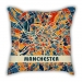 Map section Manchester city pillow sofa cotton and linen texture car pillow cushion gift