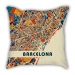 City series Barcelona map pillow sofa cotton and linen texture car pillow