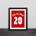 Solskjaer jersey number solid wood decorative photo frame photo wall