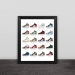 Jordan sneakers illustration JORDAN1 collection solid wood decorative photo frame photo wall