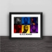 Lakers Kobe color avatar photo section solid wood decorative photo frame photo wall