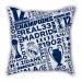 City models Madrid map pillow sofa cotton and linen texture car pillow