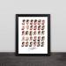 Beckham career hairstyle illustration wood decorative photo frame photo wall