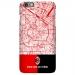 Milan city map AC Milan red and black color matching matte phone case