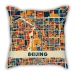 Map section Beijing city pillow sofa cotton and linen texture car pillow cushion gift