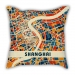 Map section Shanghai city pillow sofa cotton and linen texture car pillow cushion gift