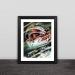 F1 Hamilton illustration solid wood decorative photo frame photo wall