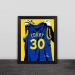 Golden State Warrior Curry jersey illustration solid wood decorative photo frame photo wall table hanging frame