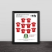 1999 Manchester United Champions League classic lineup solid wood decorative photo frame