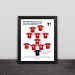 2005 Liverpool Champions League Classic Lineup Solid Wood Decorative Frame Photo