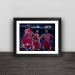 Bull Big Three Classic Solid Wood Decorative Photo Frame Photo Wall Table Hanging Frame Decoration Jordan Pippen Rodman