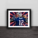 Patriot Tom Brady illustration solid wood decorative photo frame photo wall table hanging frame