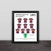 2015 Barcelona Champions League Classic Lineup Solid Wood Photo Frame Photo Wall