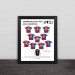 2009 Barcelona Champions League Classic Lineup Solid Wood Photo Frame
