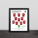 2019 Liverpool Champions League classic lineup solid wood decorative photo frame