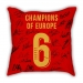Liverpool Champions League champion team signature pillow sofa cotton and linen texture car pillow cushion bar decoration