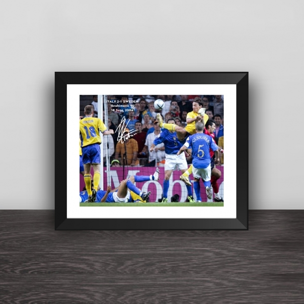 European Cup European Cup Zlatan Ibrahimovic scorpion tail pendulumclassic moment photo frame