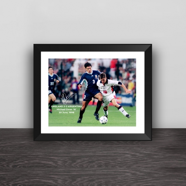 Michael Owen classic moment photo frame
