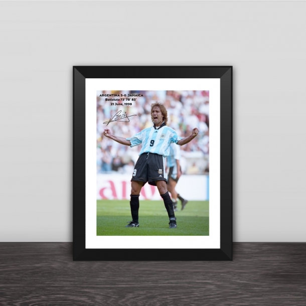 Batistuta hat trick classic moment photo frame