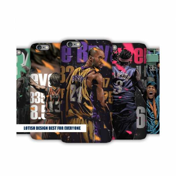 96 gold generation illustrator mobile phone cases Kobe Iverson Nash Ray Allen