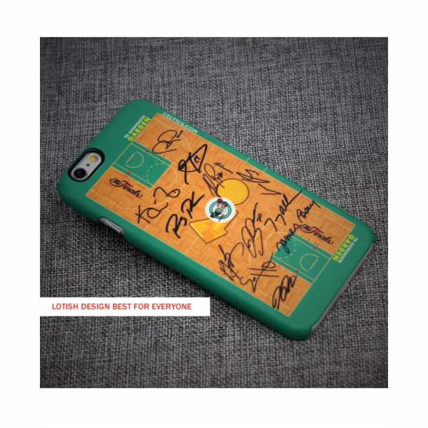 2008 Finals Celtics home floor team signature phone case