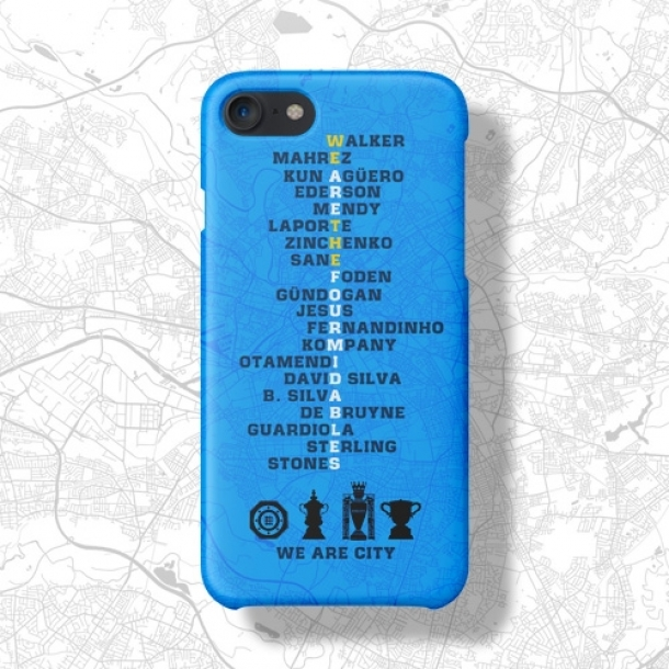 Manchester city four crown memorial phone case