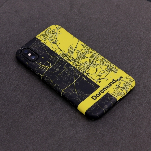 Germany Dortmund artistic city map phone case