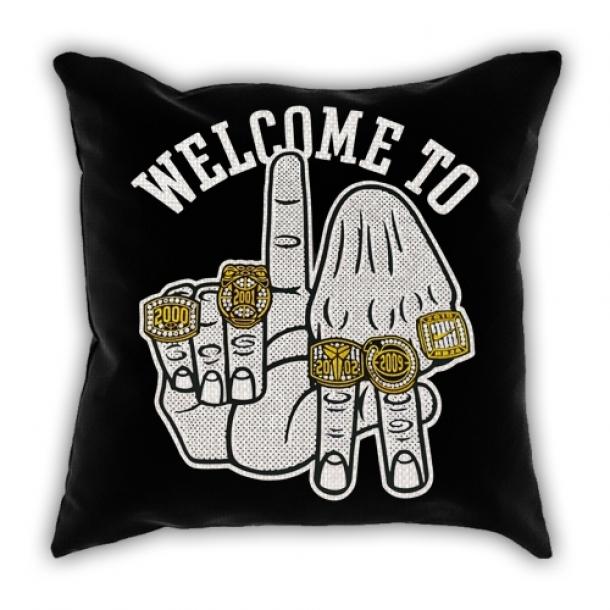 lakers Black Mamba Kobe five crown pillow