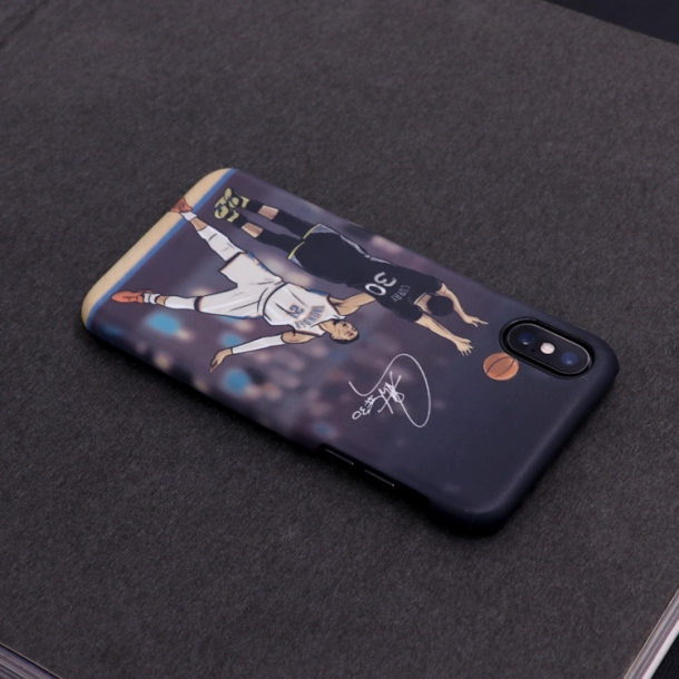 Warriors Curry lore illustrator matte phone case